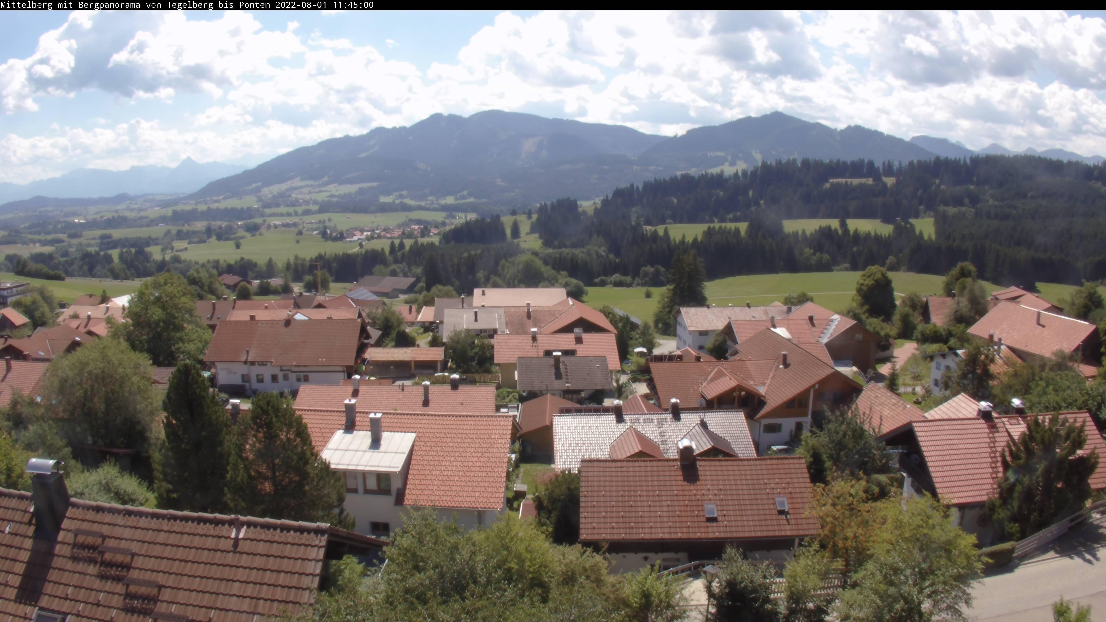 Webcam Oy-Mittelberg Bergpanorama