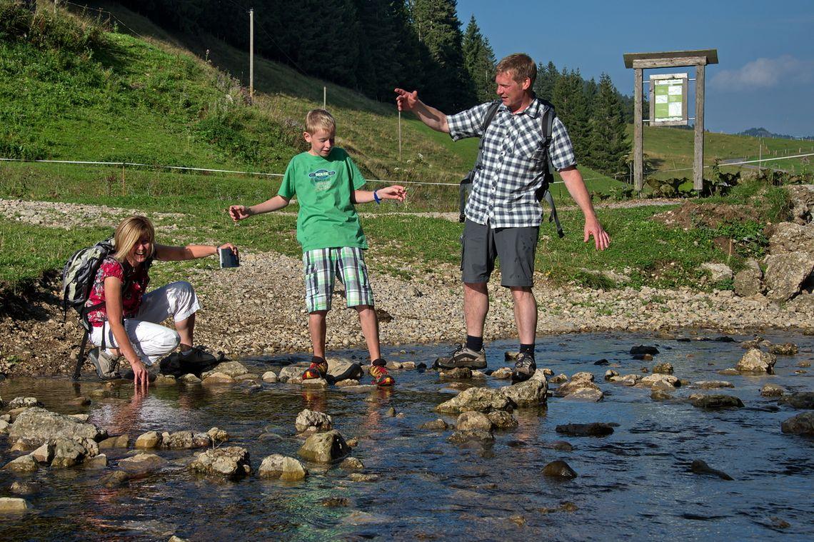 Alperlebnispfad Wasser  - © Imbergbahn Steibis / Jürgen Waffenschmidt , Kur- und Tourismusbüro Oy-Mittelberg