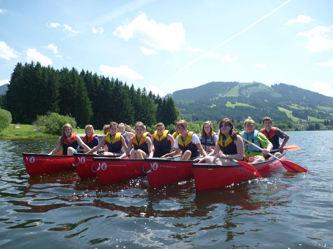 Kletterwald Grüntensee Kanadierboote  - © Tiefblick GmbH , Kur- und Tourismusbüro Oy-Mittelberg