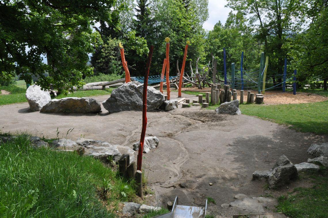 Park der Sinne nahe der Hochgebirgsklinik Mittelberg  - © Jens Hornung , Kur- und Tourismusbüro Oy-Mittelberg