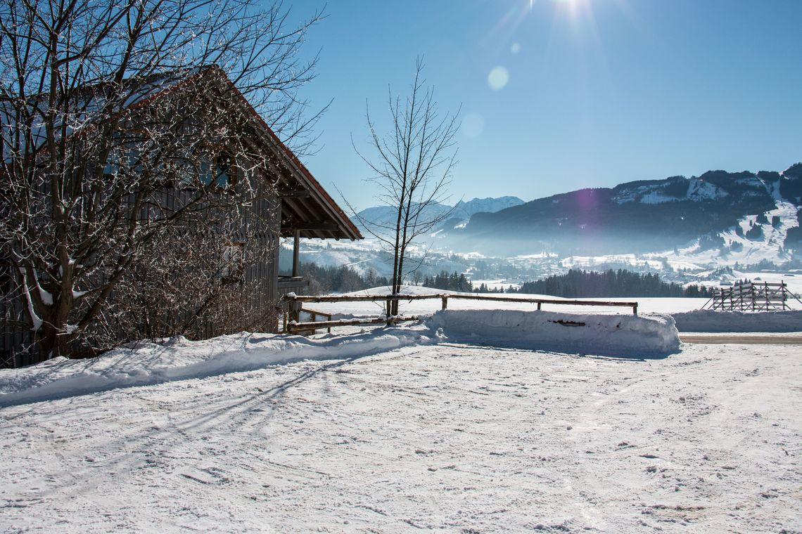 Almcafé Schnakenhöhe Ausblick auf Alpspitze  , Kur- und Tourismusbüro Oy-Mittelberg