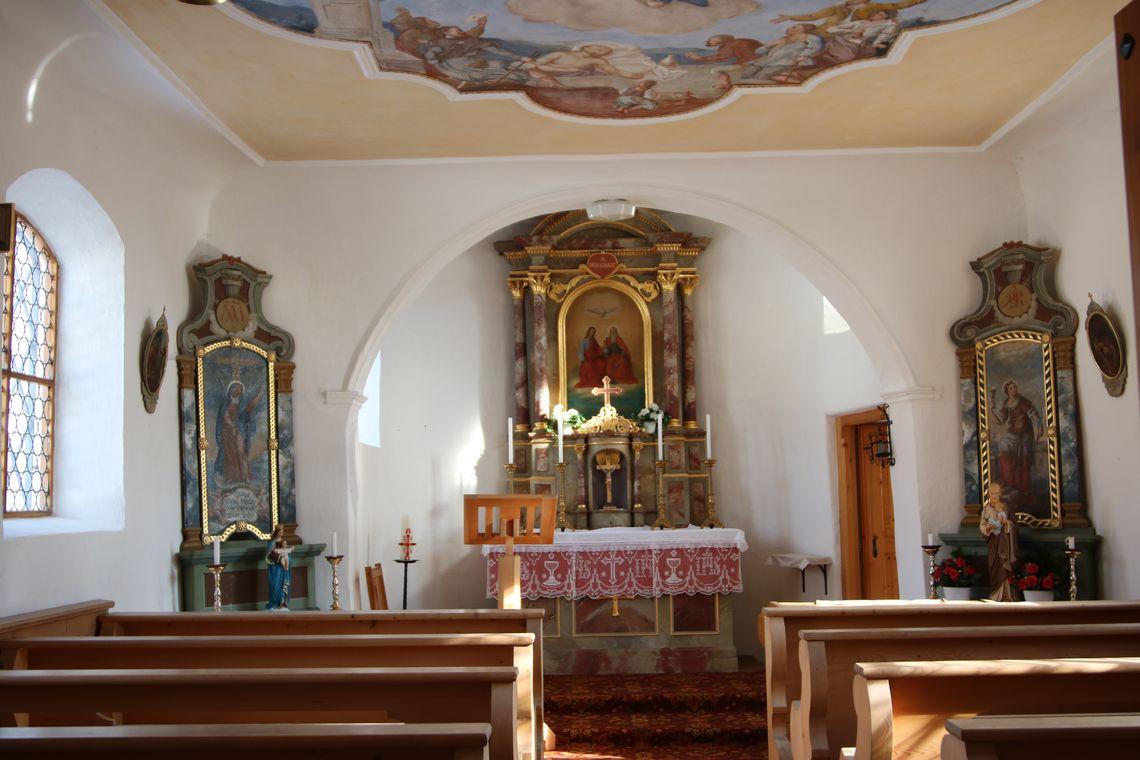 Altarraum Kapelle Stich Oy-Mittelberg  - © Gabriele Postner , Kur- und Tourisusbüro Oy-Mittelberg