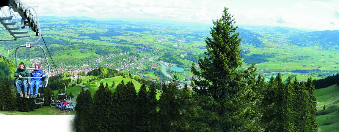 Blick nach Immenstadt - Mittagbahn  , Kur- und Tourismusbüro Oy-Mittelberg