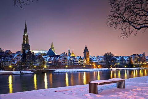 Ulm im Winter  - © Ulm/Neu-Ulm Touristik GmbH / Stadtarchiv Ulm , Kur- und Tourismusbüro Oy-Mittelberg