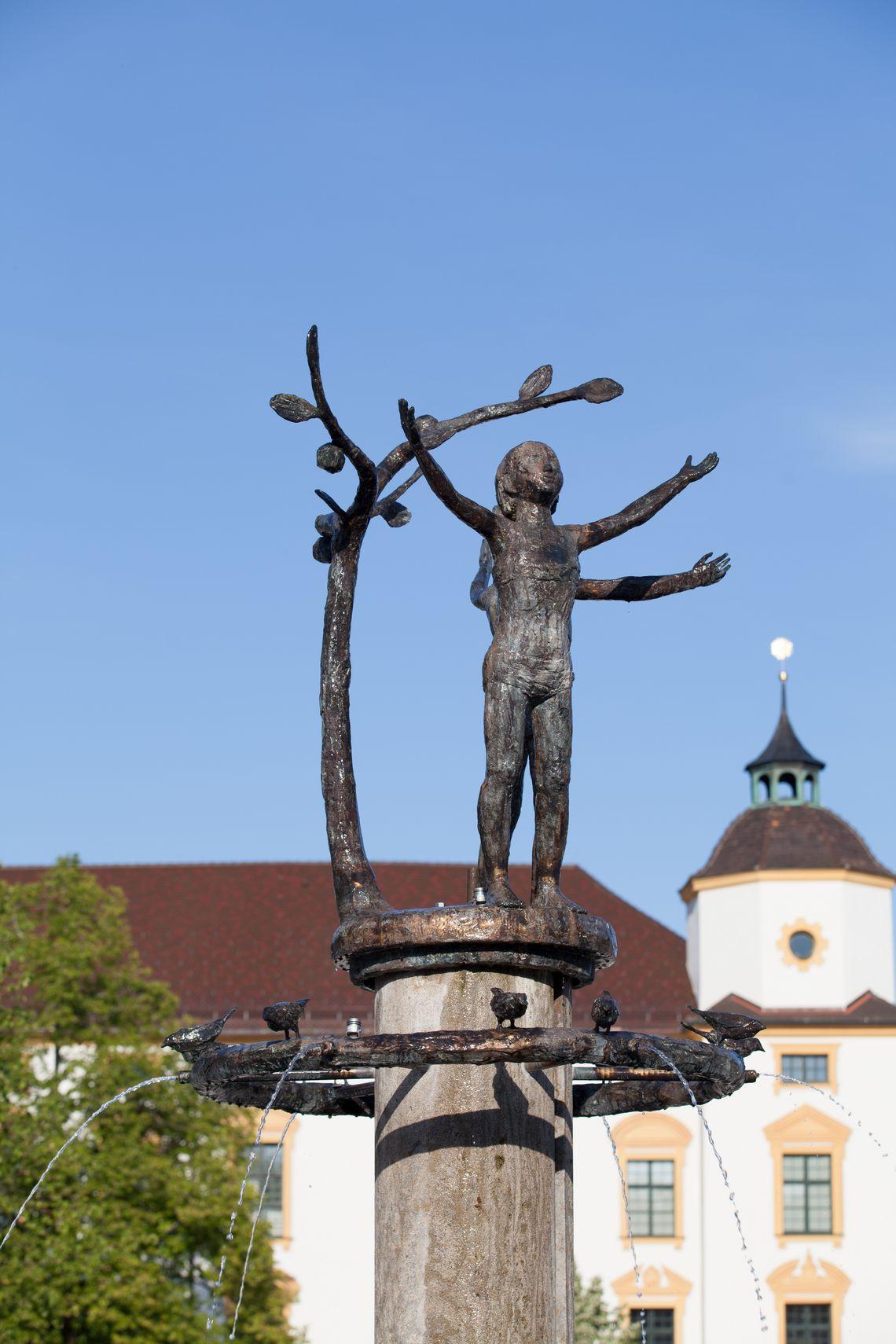 Brunnen am Hildegardplatz  - © Kempten Tourismus , Kur- und Tourismusbüro Oy-Mittelberg