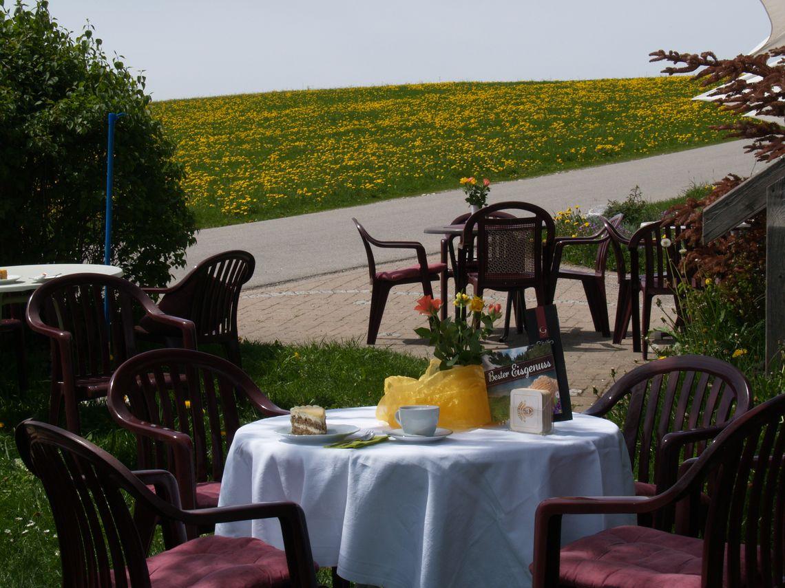 Almcafé Schnakenhöhe Sonnenterrasse bestuhlt  , Kur- und Tourismusbüro Oy-Mittelberg