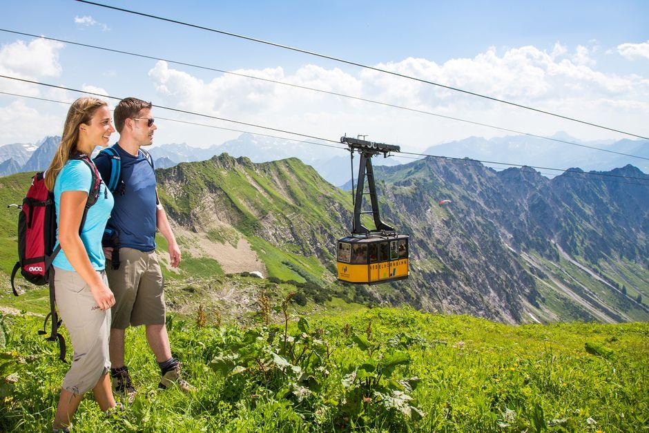 Ausflug mit der Nebelhornbahn  - © Oberstdorf / Kleinwalsertal Bergbahnen; Fotograf: Alex Savarino , Kur- und Tourismusbüro Oy-Mittelberg