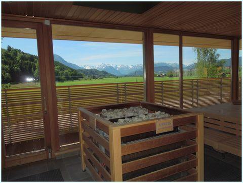 Wonnemar Panoramasauna Aussicht  - © InterSPA Gesellschaft für Betrieb Wonnemar Sonthofen mbH , Kur- und Tourismusbüro Oy-Mittelberg