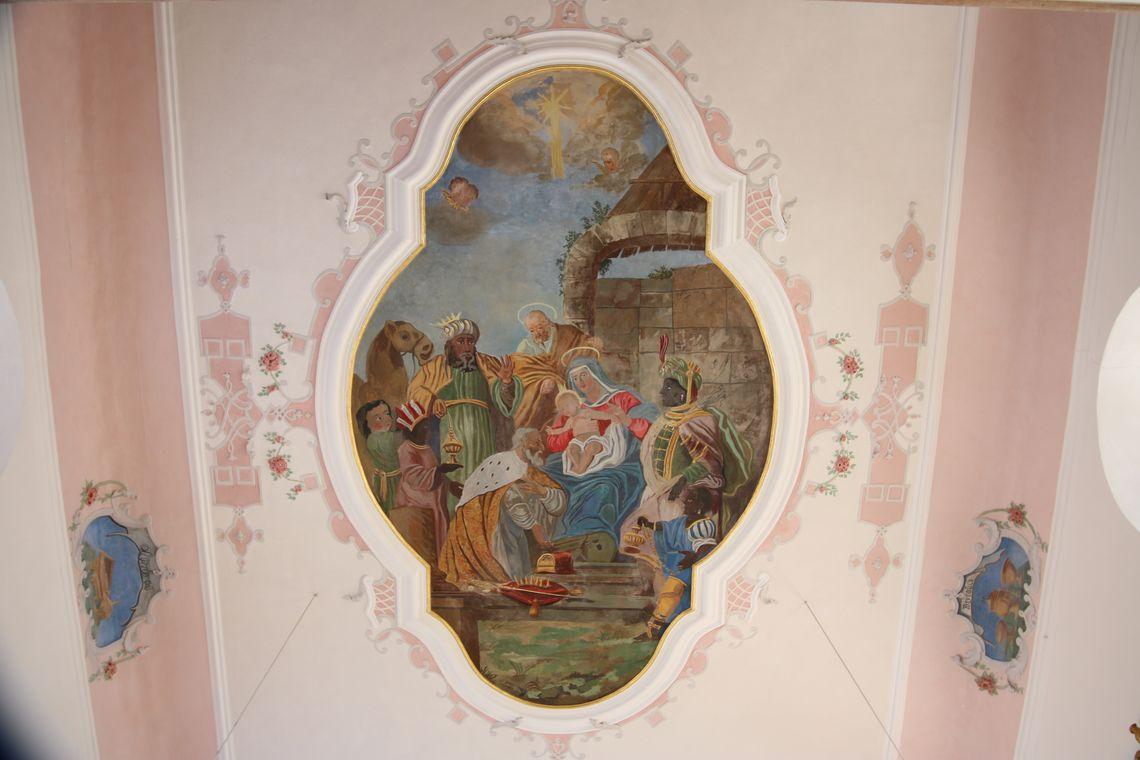 Deckengemälde Kapelle Bachtel  - © Gabriele Postner , Kur- und Tourisusbüro Oy-Mittelberg