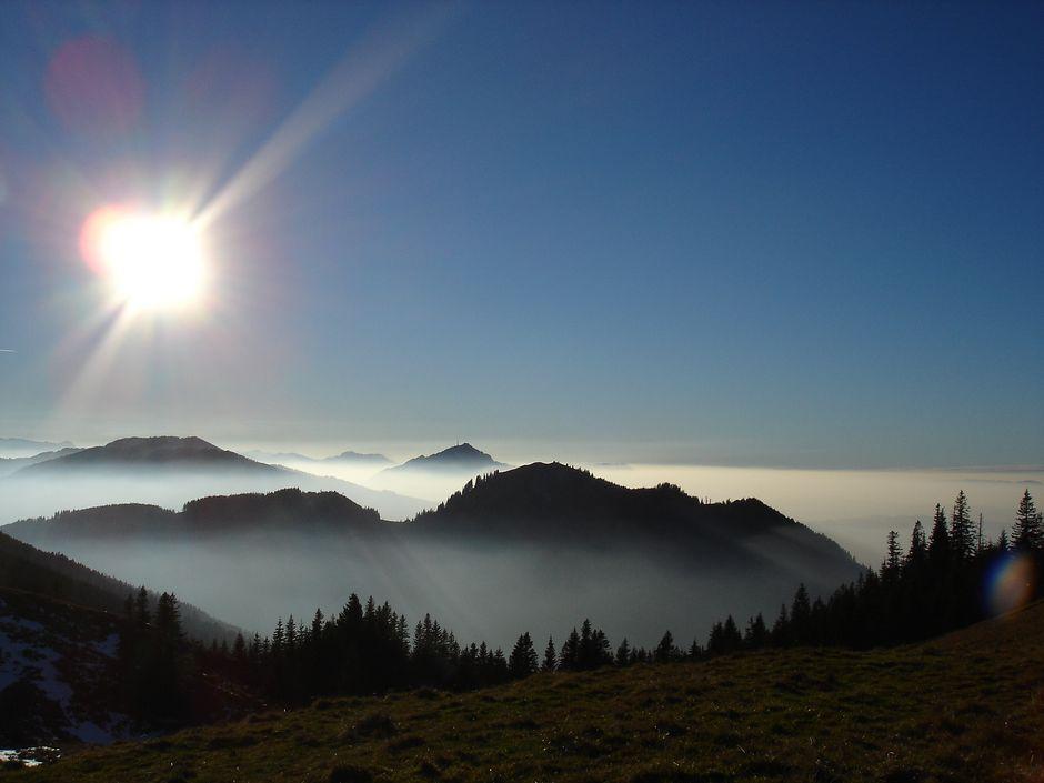 Blick von der Alpspitze auf den Grünten  , Kur- und Tourismusbüro
