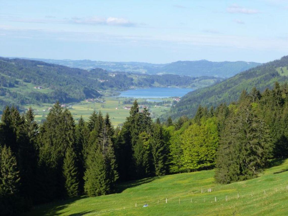 Panoramablick vom Hündle  - © Hündle Erlebnisbahnen , Kur- und Tourismusbüro Oy-Mittelberg