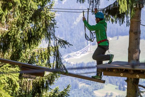 Kletterwald am Söllereck  - © Oberstdorf / Kleinwalsertal Bergbahnen; Fotograf: Bastian Morell , Kur- und Tourismusbüro Oy-Mittelberg