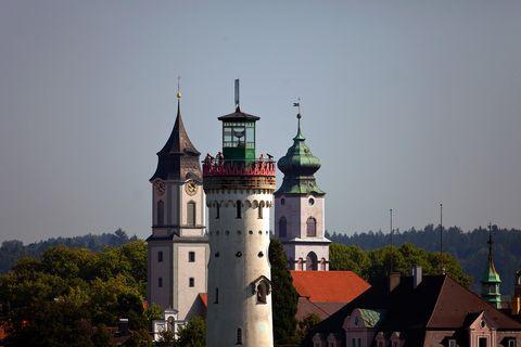 Lindau Leuchtturm Kirchtürme  - © Achim Mende / Lindau Tourismus und Kongress GmbH , Kur- und Tourismusbüro Oy-Mittelberg